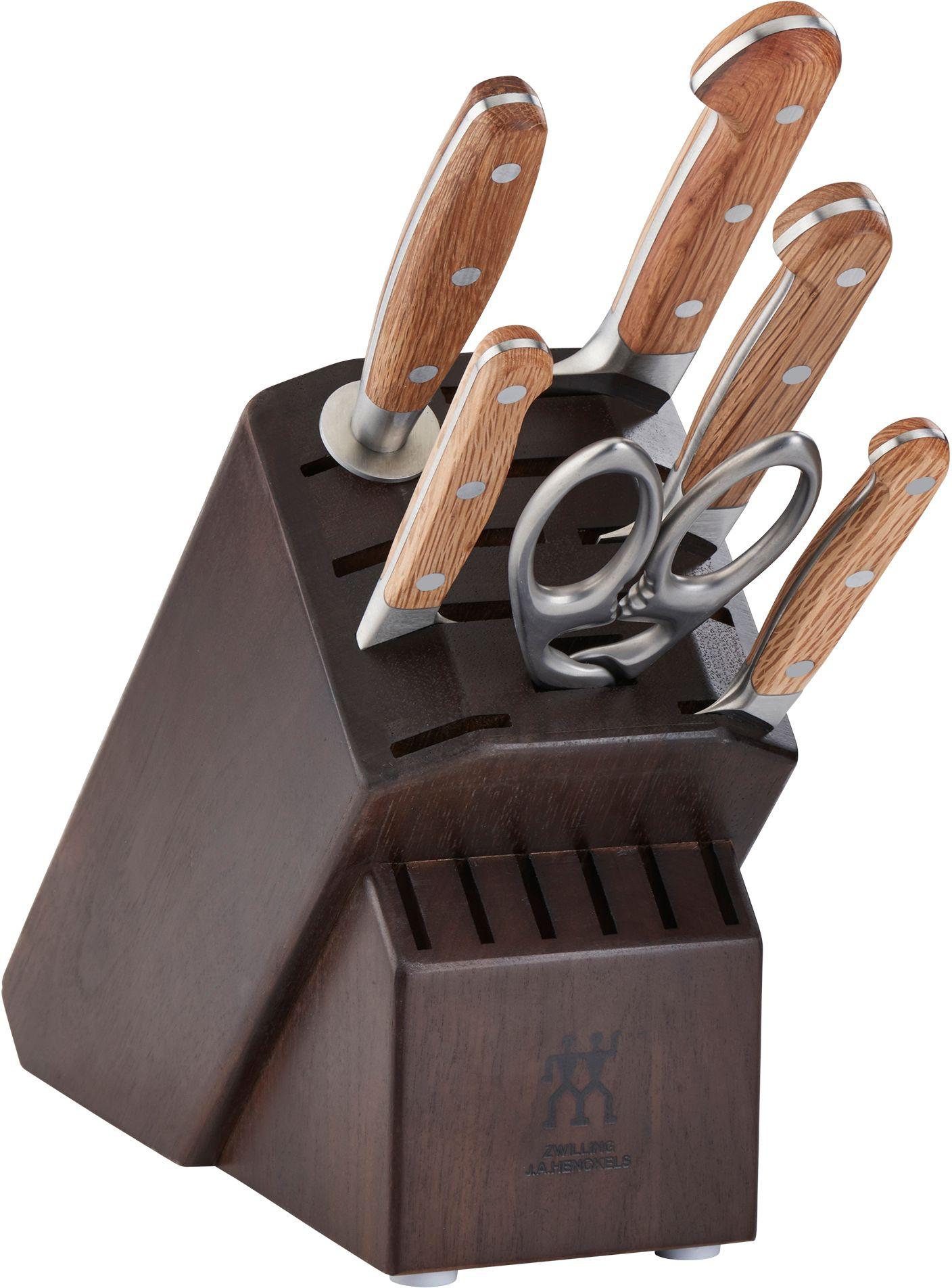 Zwilling J.A. Henckels Pro Holm 7 Piece Knife Block Set, Walnut Block