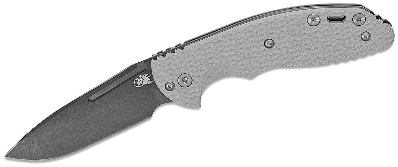 Rick Hinderer Knives XM-18 Slipjoint Folding Knife 3 inch CPM-20CV Stonewashed Black DLC Spanto Blade, Gray G10 Handles