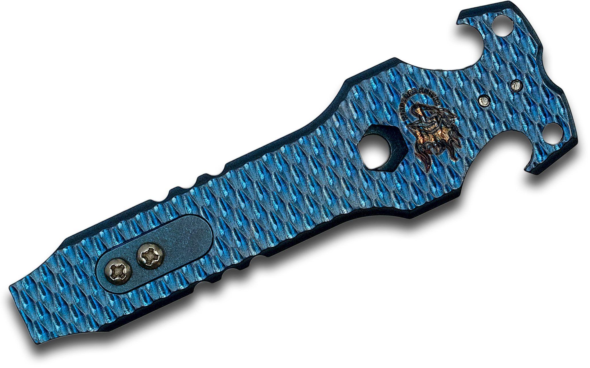 Rick Hinderer Knives Blue Titanium HS-Tac Tool