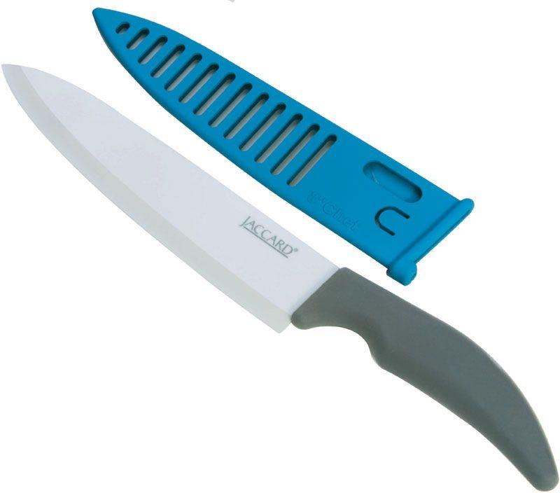 Jaccard Advanced Ceramic Chef's Knife 8 inch Blade, Sheath