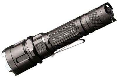 JETBeam IIIM PRO Rechargeable Tactical LED Flashlight, Black, 1100 Max Lumens