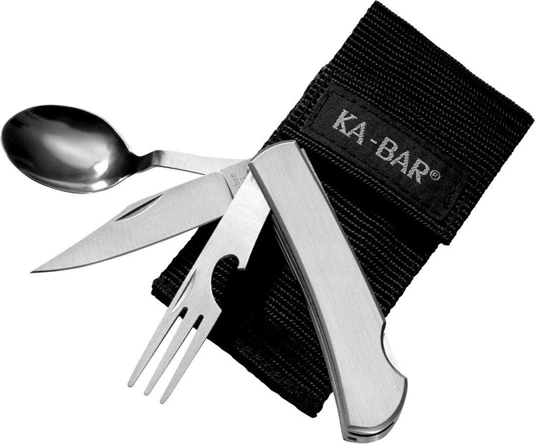 KA-BAR 1300 Hobo Outdoor Dining Kit, Nylon Sheath