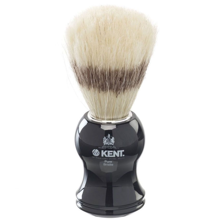 Kent VS60 Pure Bristle Badger Effect Shave Brush, Black Handle
