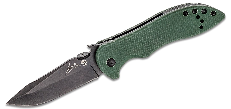 Kershaw Emerson 6074OLBLK CQC-5K Folding Knife 3 inch Black Blade, OD Green G10 Handles