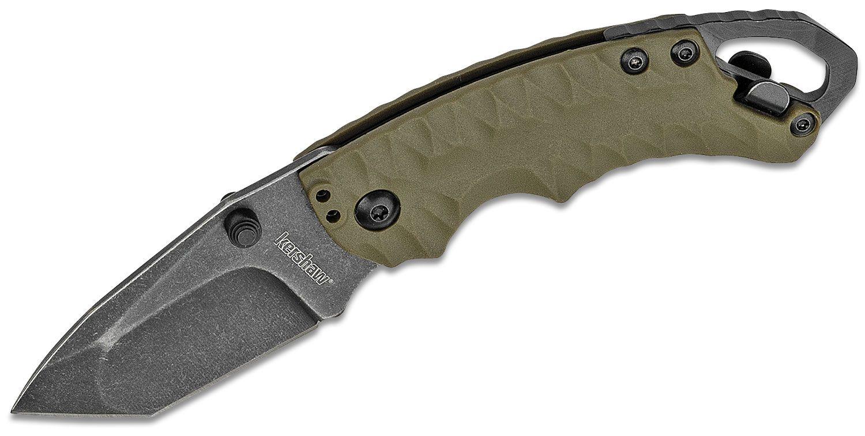 Kershaw 8750TOLBW Shuffle II Multi-Function Folding Knife 2.25 inch BlackWashed Tanto Blade, GFN Handles
