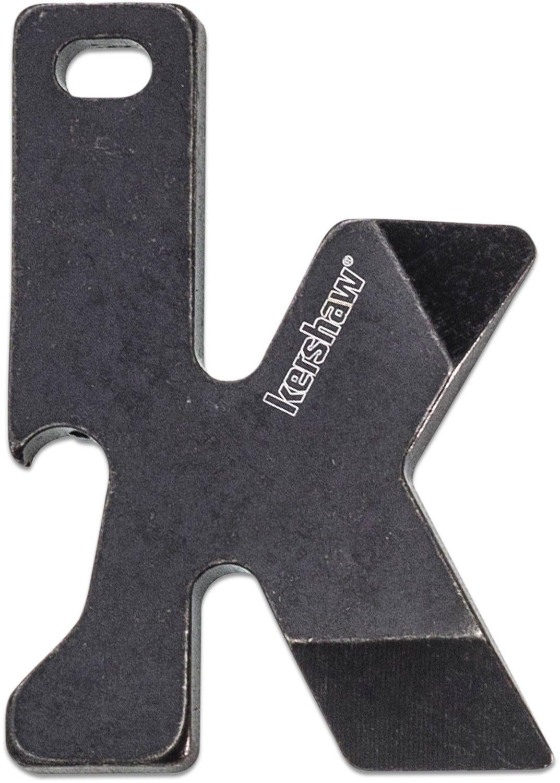 Kershaw K-Tool Keychain Multi-Tool, 2 inch Overall, Blackwash