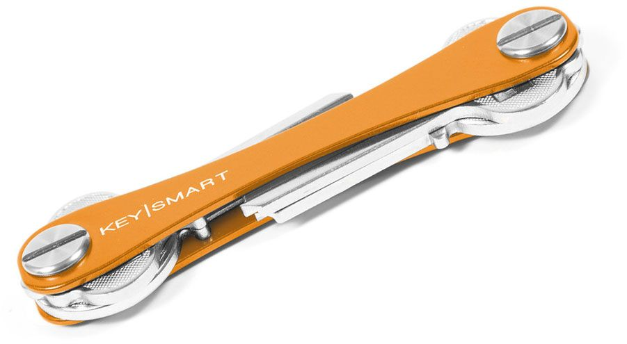 KeySmart 2.0 Extended Orange Aluminum Key Organizer, Holds 2-8 Keys