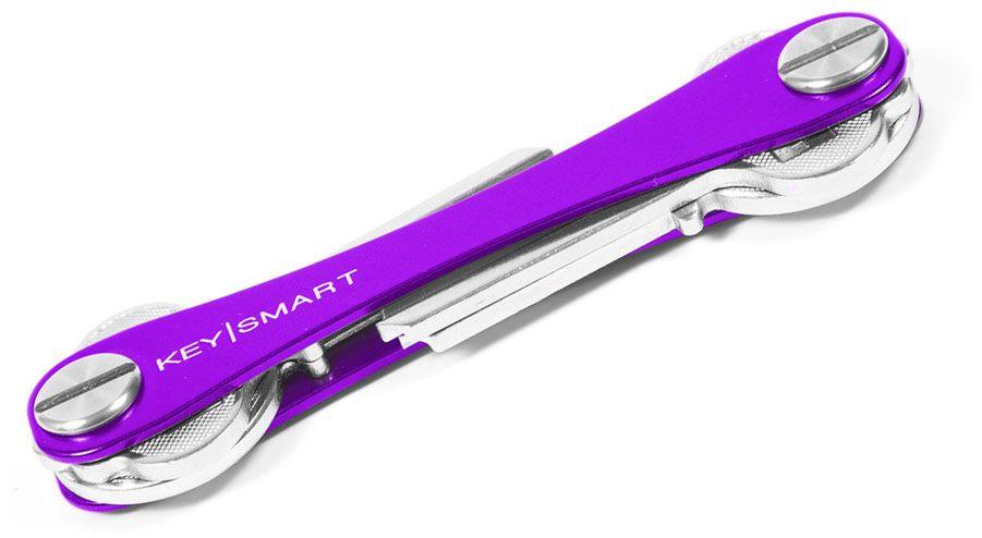 KeySmart 2.0 Extended Purple Aluminum Key Organizer, Holds 2-8 Keys