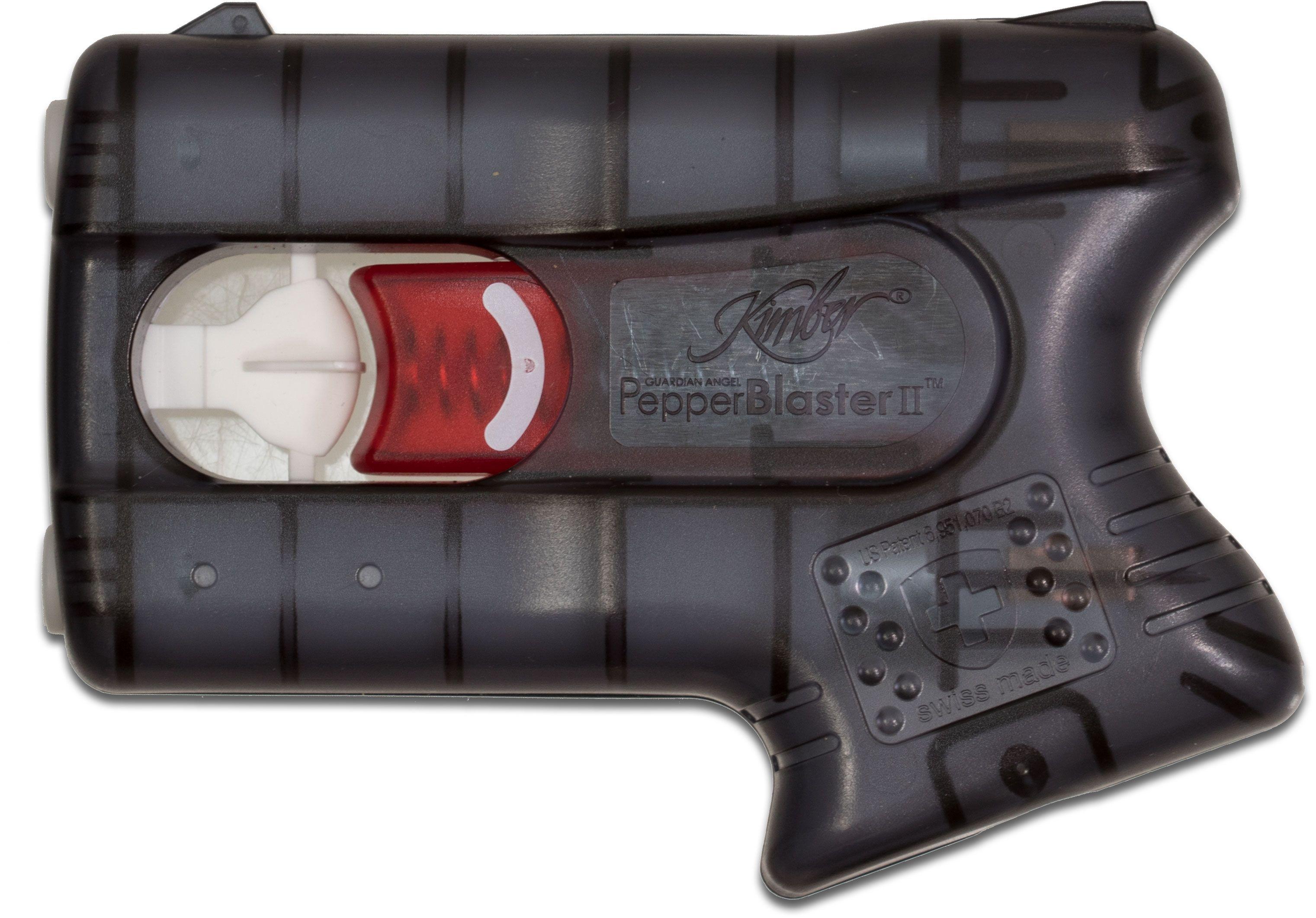 Kimber America PepperBlaster II Pistol Grip Pepper Self-Defense Solution, Gray