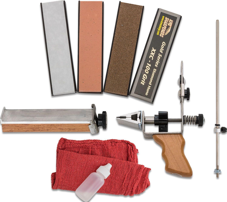 KME Sharpeners Knife Sharpening System, R.P.S.H. Combo Kit, Plastic Case