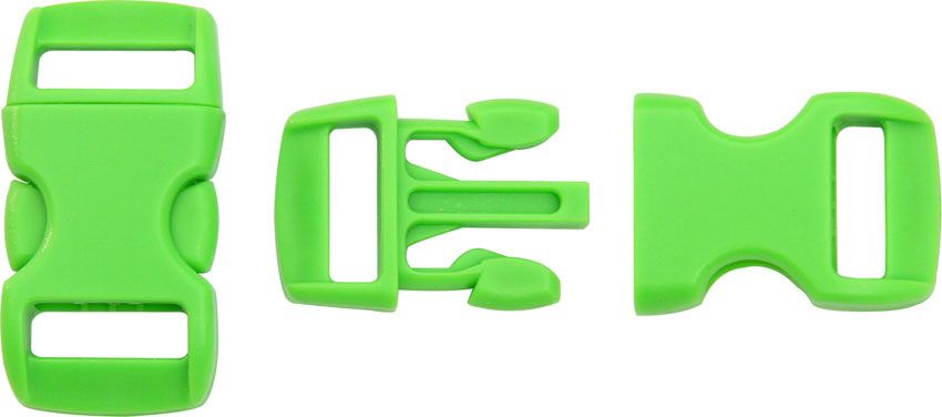 Knotty Boys Neon Green Bracelet Buckles, 50-Pack