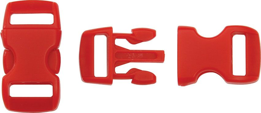 Knotty Boys Red Bracelet Buckles, 50-Pack