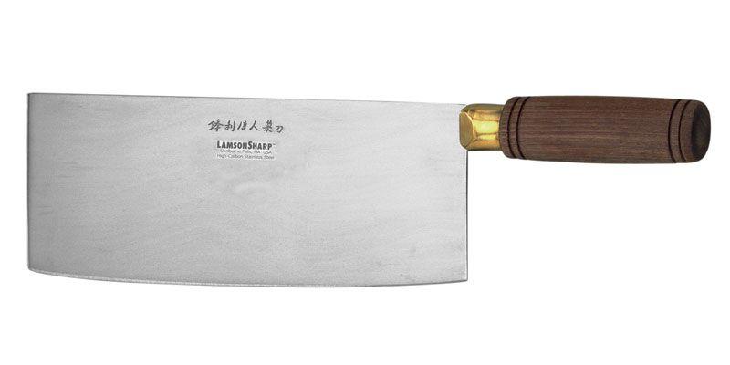 LamsonSharp USA Walnut Chinese Vegetable Cleaver 8 inch Blade