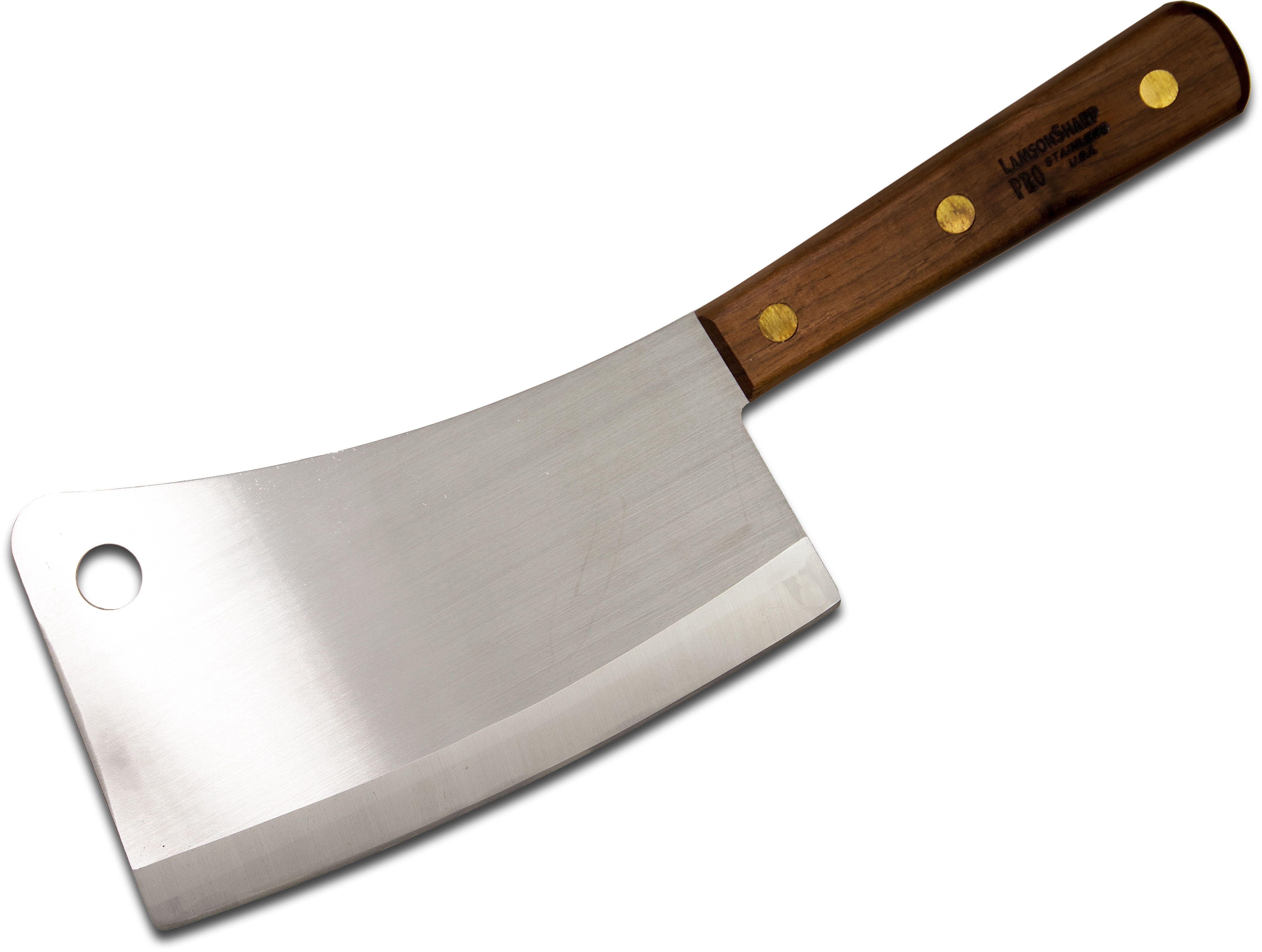 LamsonSharp USA Walnut 7.25 inch Meat Cleaver, Walnut Handles