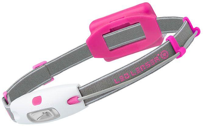 LED Lenser 880216 NEO H4 Full-Size LED Headlamp, 90 Max Lumens, Pink