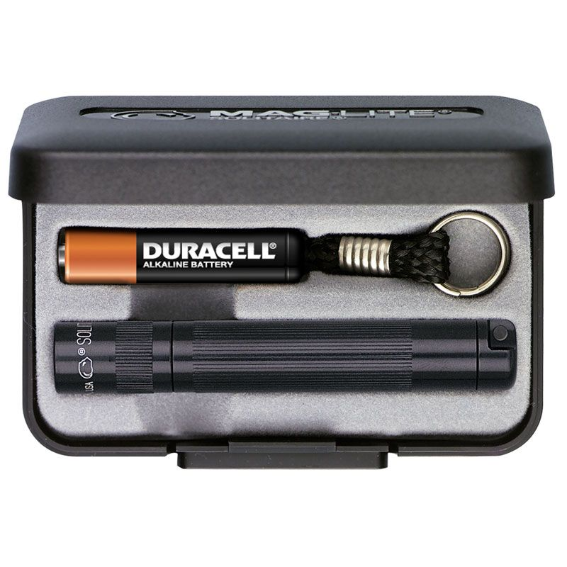 MagLite Solitaire AAA Flashlight Black Aluminum Gift Box