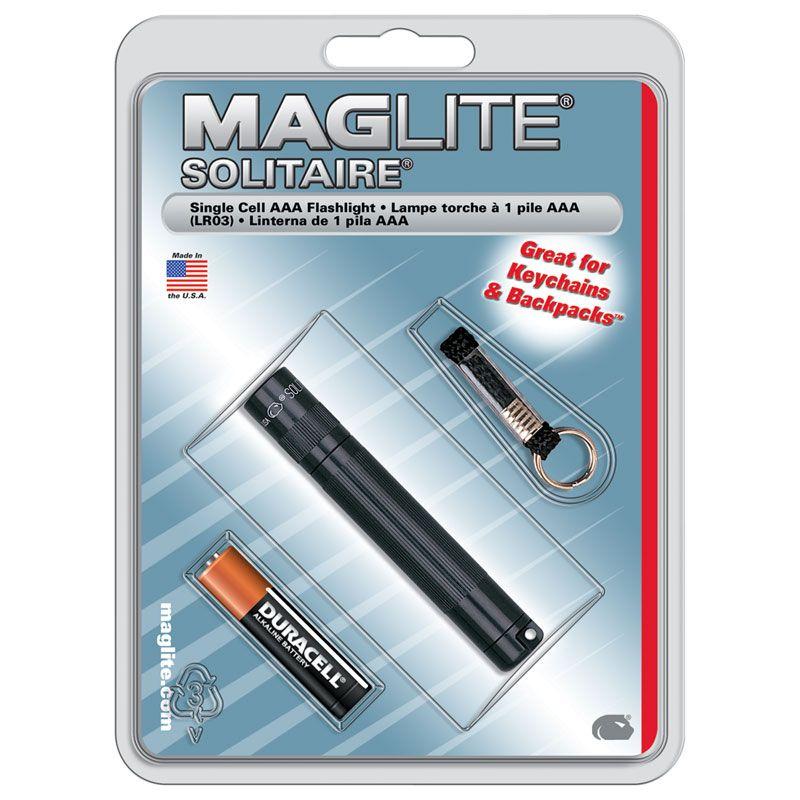 Maglite Solitaire Flashlight - Black Body
