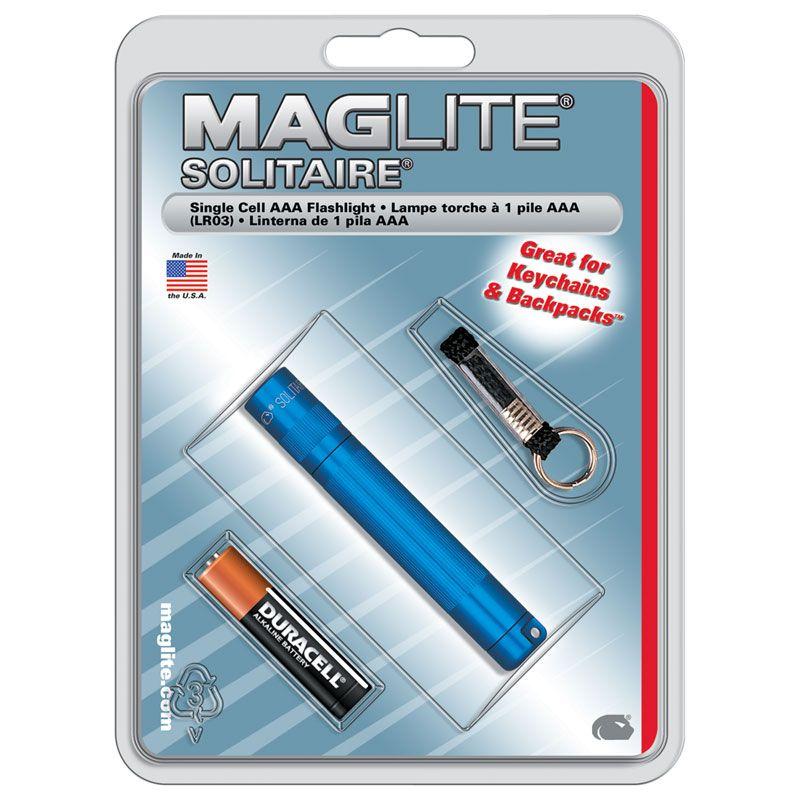 Maglite Solitaire Flashlight - Blue Body