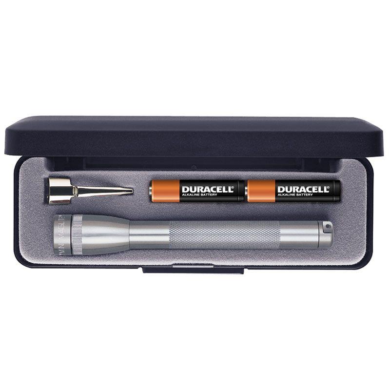 Maglite Minimag AAA Flashlight in Gift Box - Gray Body