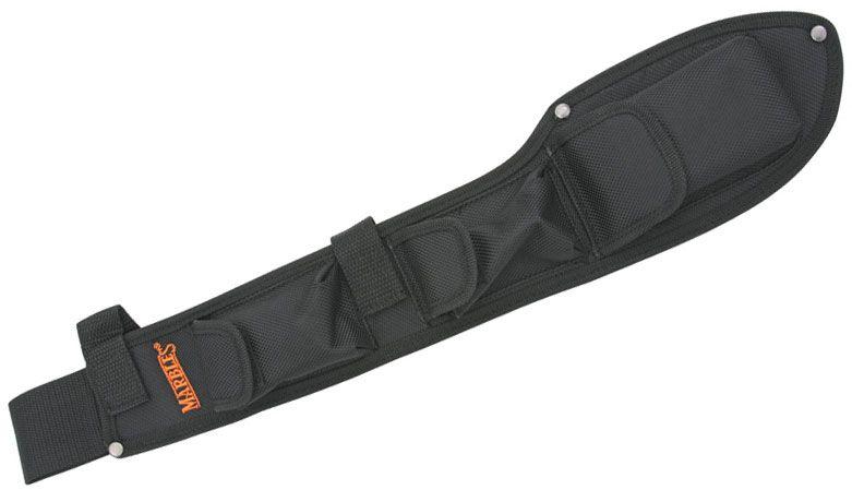 Marble's Heavy Black Nylon Belt Sheath for Bolo Camp Knife