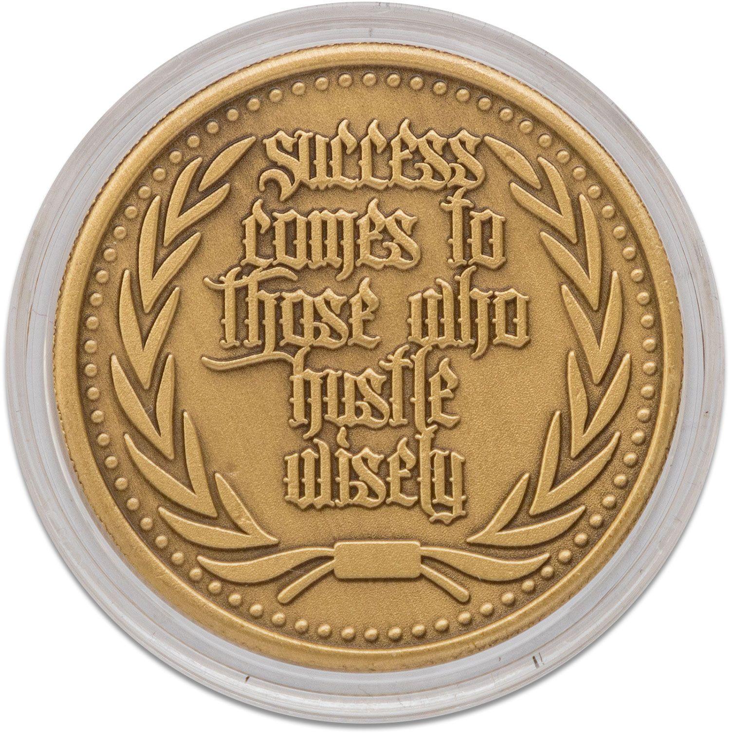 Marfione Custom Knives Custom Antique Bronze Hustle Challenge Coin