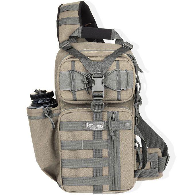 Maxpedition 0431KF Sitka Gearslinger Backpack, Khaki Foliage, 618 cu. in.