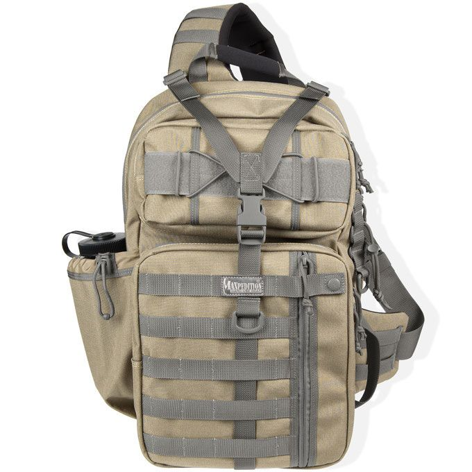 Maxpedition 0432KF Kodiak Gearslinger Backpack, Khaki-Foliage