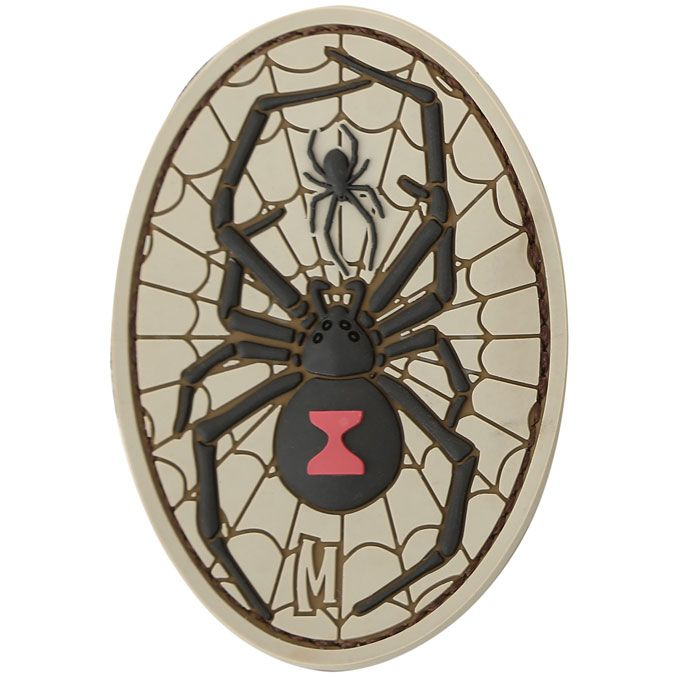 Maxpedition BKWDA PVC Black Widow Patch, Arid