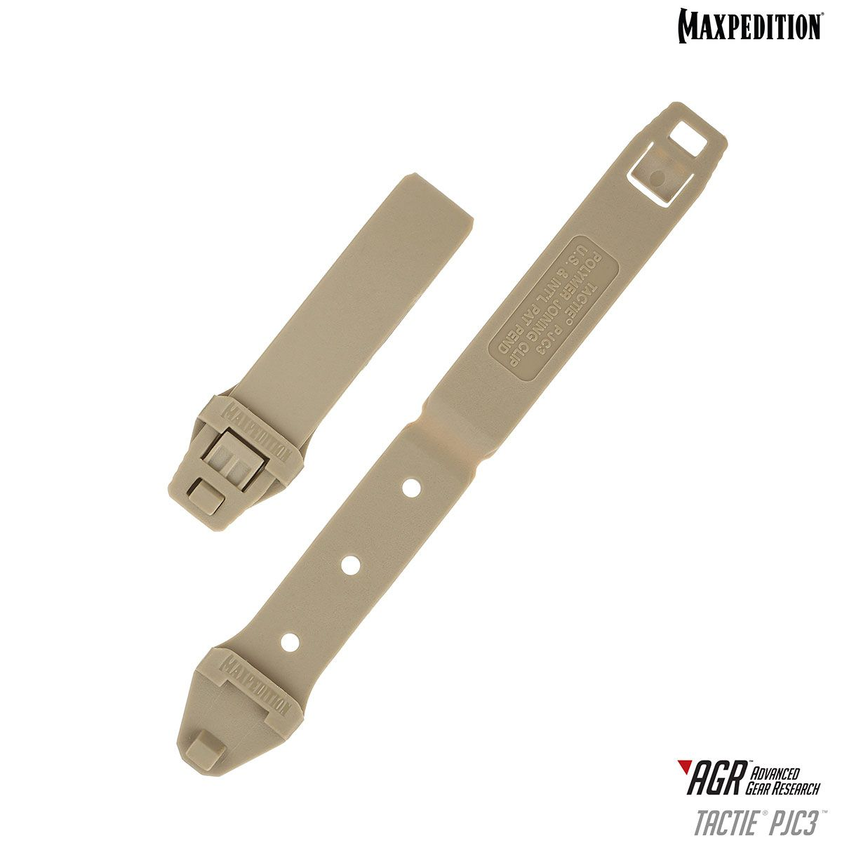 Maxpedition PJC3TAN AGR Advanced Gear Research PJC3 TacTie Polymer Joining Clip, Pack of 6, Tan