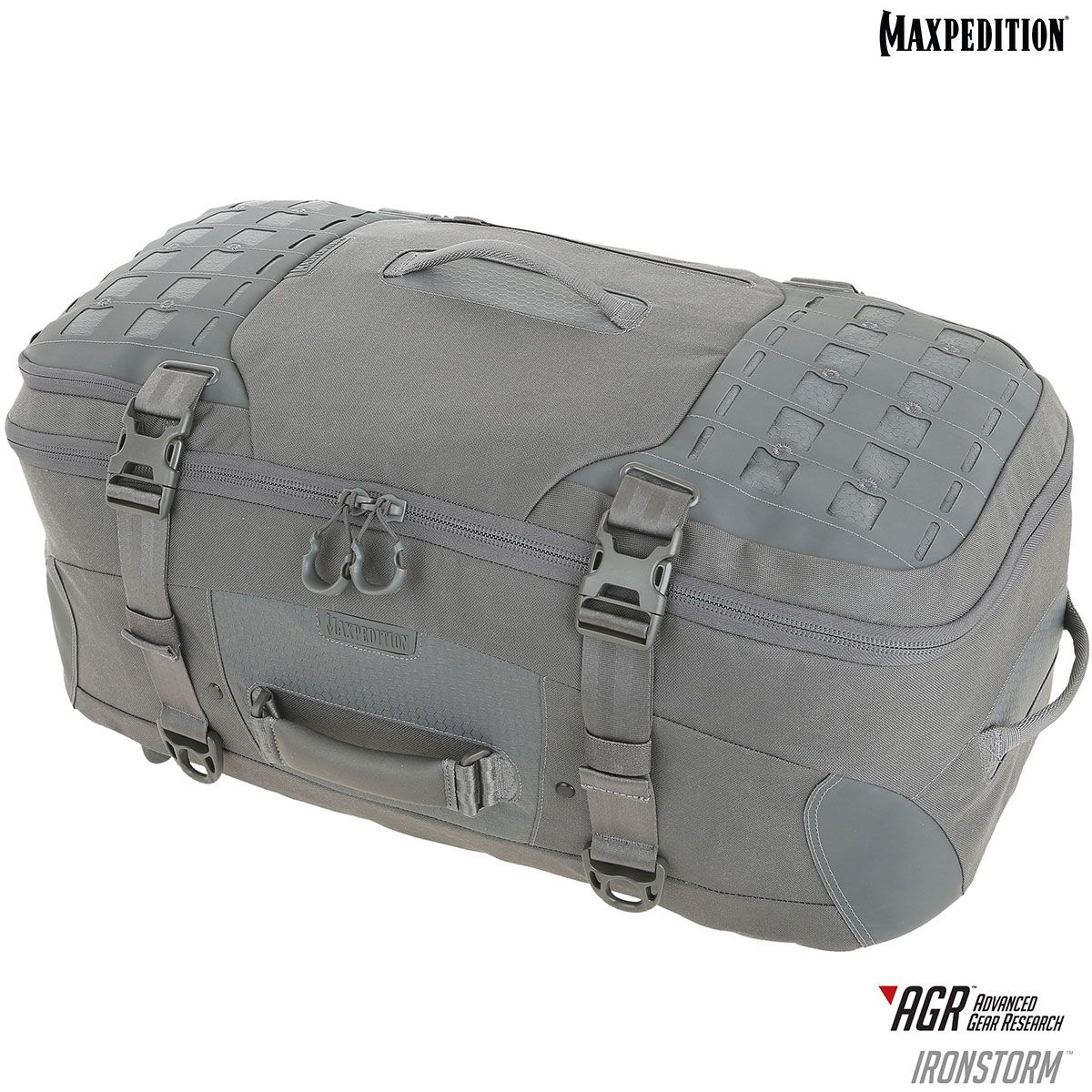 Maxpedition RSMBLK AGR Advanced Gear Research Ironstorm Adventure Travel Bag, Gray