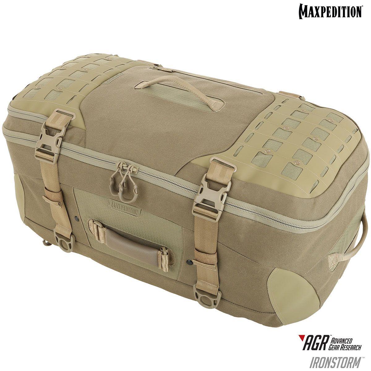 Maxpedition RSMBLK AGR Advanced Gear Research Ironstorm Adventure Travel Bag, Tan
