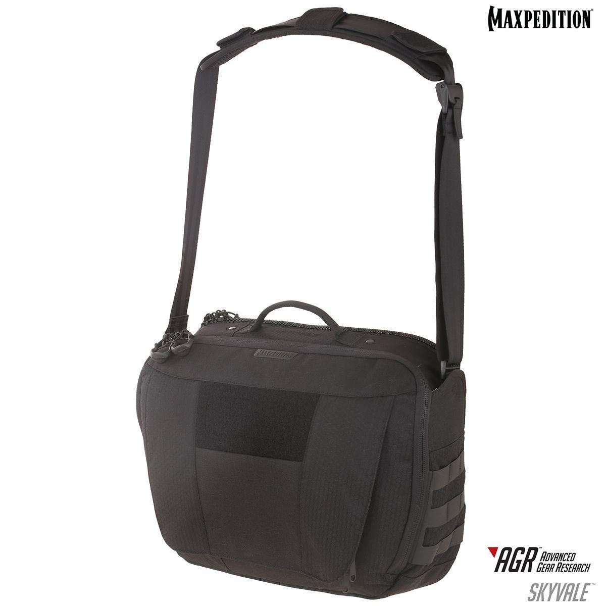 Maxpedition SKYBLK AGR Advanced Gear Research Skyvale 16L Tech Messenger Bag, Black