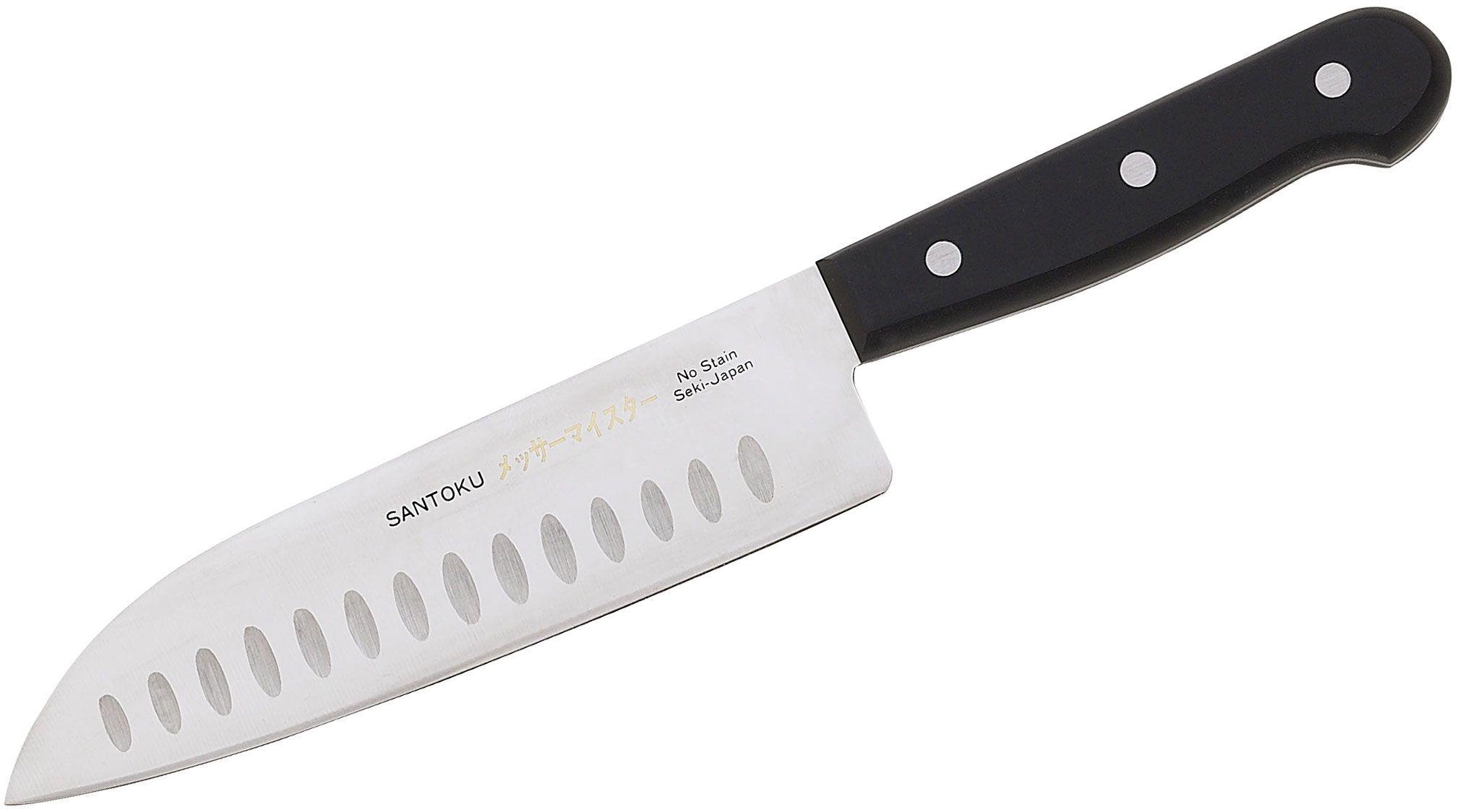 Messermeister Asian Precision 7-1/4 inch Kullenschliff Santoku Knife
