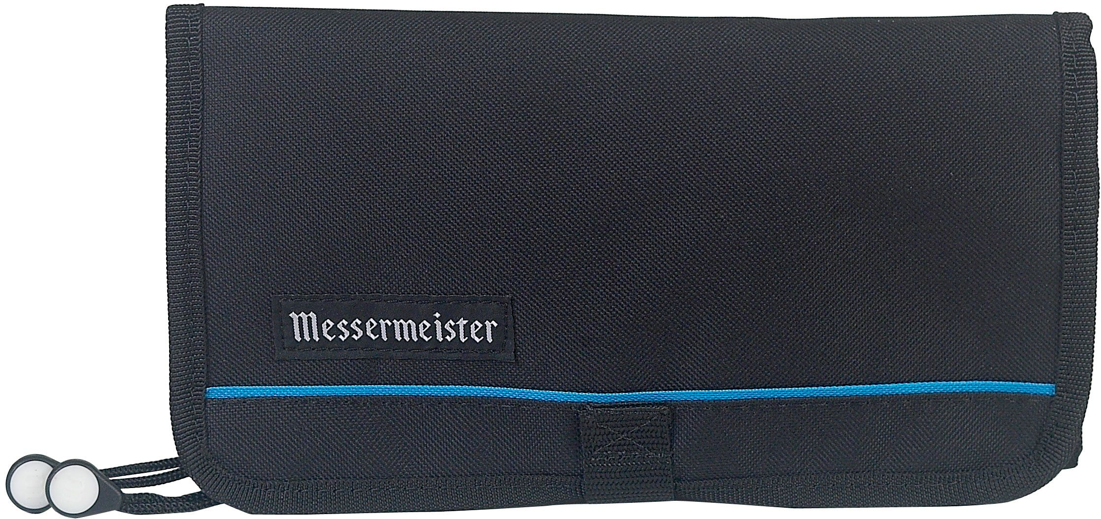 Messermeister 10 Pocket Black Padded Gadget Roll, Black (2066-E/SOFT)