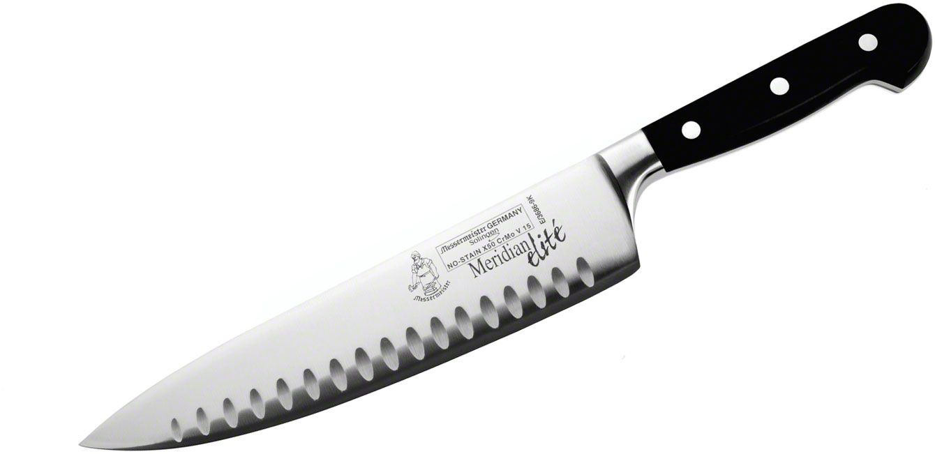Messermeister Meridian Elite 9 inch Kullenschliff Chef's Knife