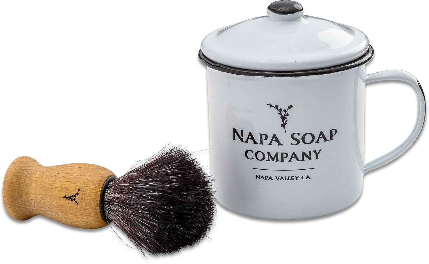 Napa Soap Company Enamel Shaving Soap Gift Set, Ocean Blend