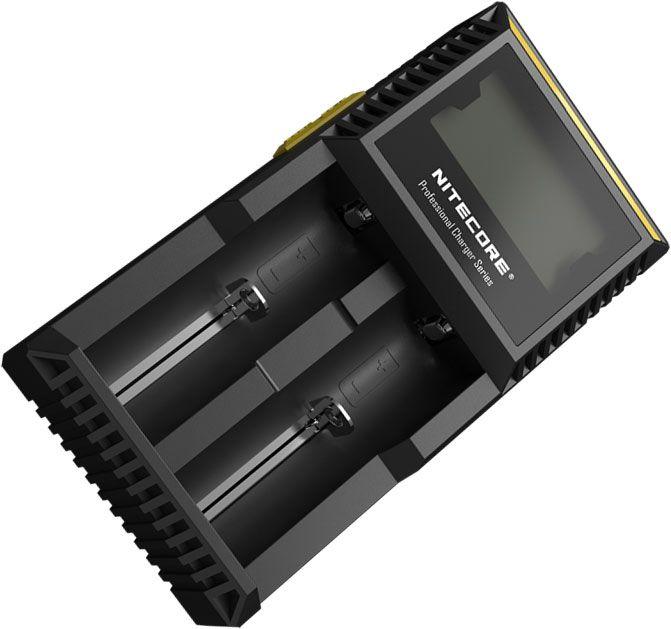NITECORE D2 Digicharger Li-ion, Ni-MH and Ni-Cd Battery Charger, 2 Slot
