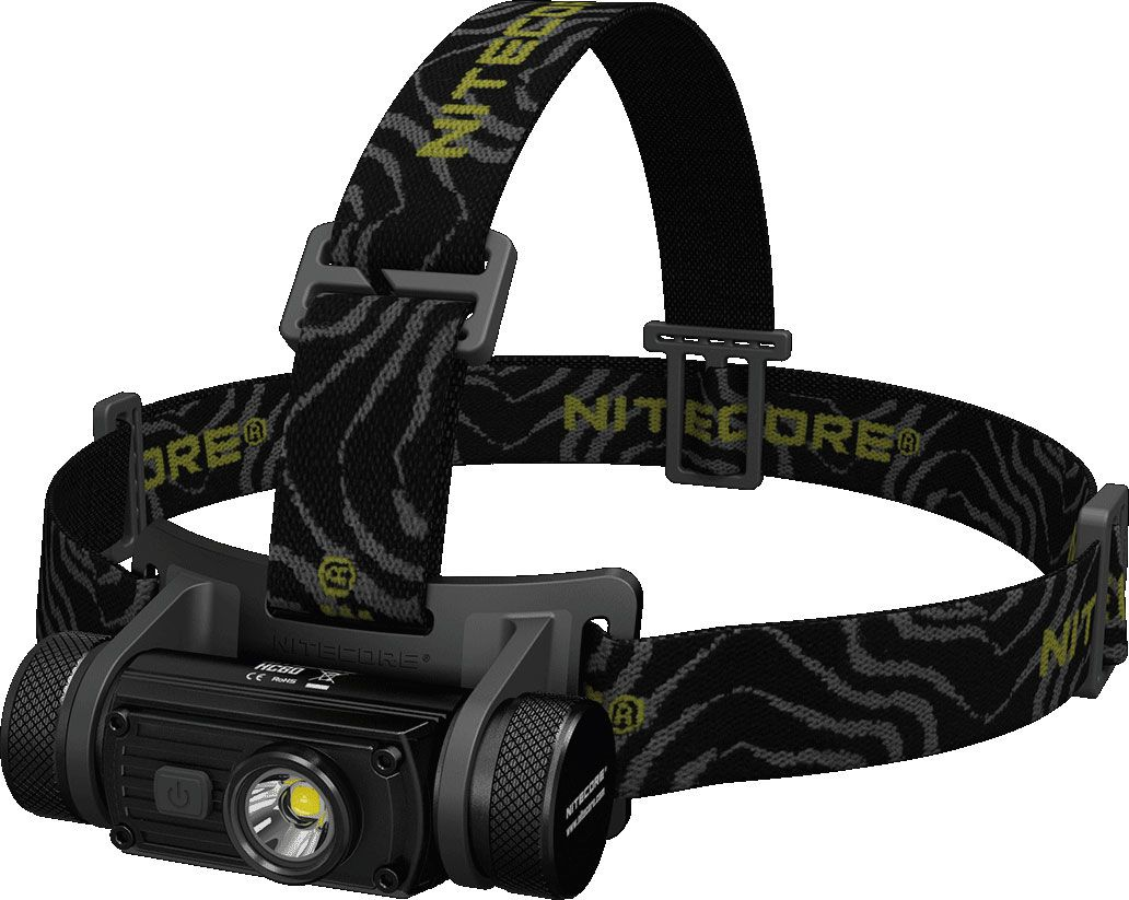 NITECORE HC60 Rechargeable 18650 LED Headlamp, Black, 1000 Max Lumens