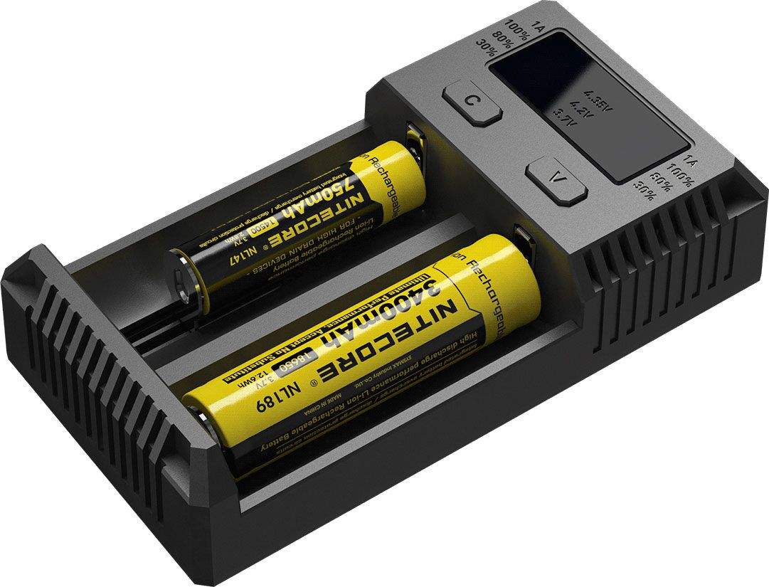 NITECORE i2-2016 Intellicharge Li-ion, Ni-MH and Ni-Cd Battery Charger, 2 Slots