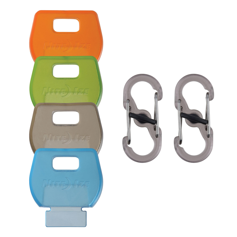 Nite Ize IdentiKey Covers + S-Biner MicroLocks Combo Pack