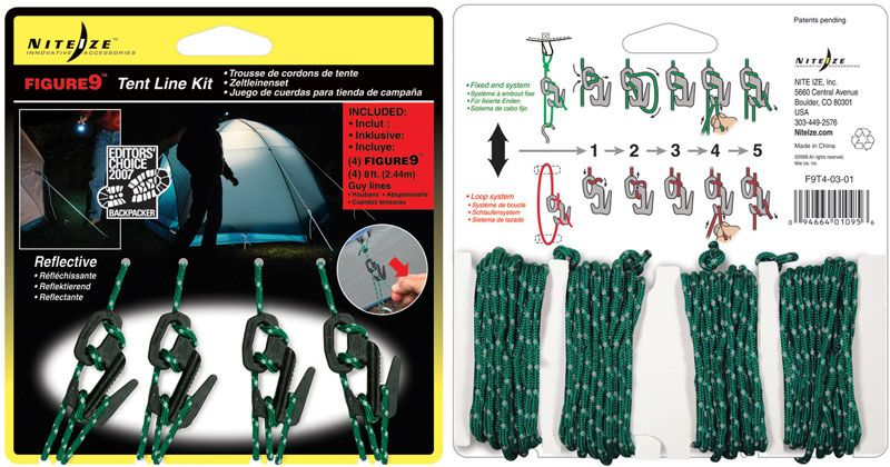 Nite Ize Figure 9 Rope Tightener Tent Line Kit (F9T4-03-01)