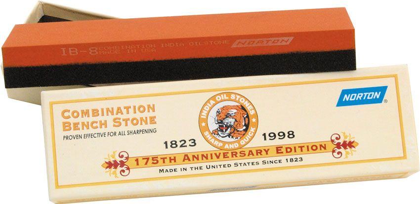 Norton India Stone 8 Inch Fine / Coarse Combo