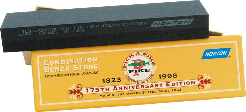 Norton 8 inch Pike Crystolon Sharpening Stone 8 inch x 2 inch x 1/2 inch