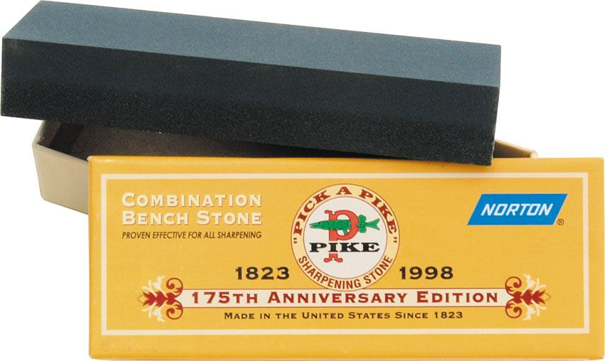 Norton 6 inch Pike Crystolon 175th Anniversary Edition Sharpening Stone 1 inch x 2 inch x 6 inch