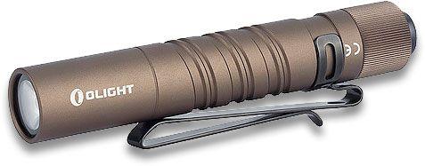 Olight i3T Desert Tan Slim LED Flashlight, 180 Max Lumens (1 x AAA)