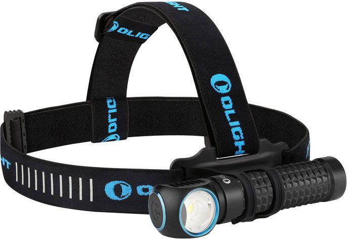 Olight Perun Kit Black Right-Angle Rechargeable LED Flashlight with Headlamp Headband Included, 2000 Max Lumens (1 x 18650)