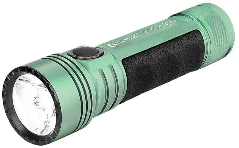 Olight Seeker 2 Pro L-Dock Rechargeable On-the-Go LED Flashlight, Mint Green, 3200 Max Lumens