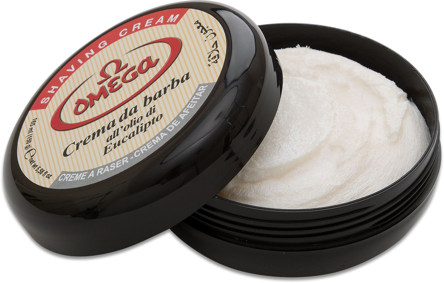 Omega Italian Shave Soap in Plastic Tub with Eucalyptus Oil
