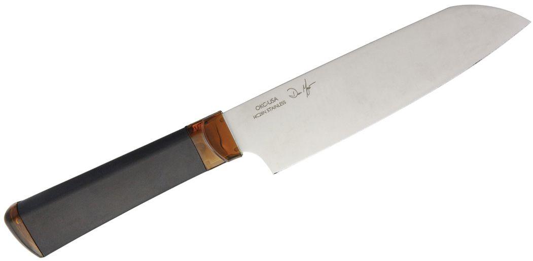 Ontario Agilite Santoku Knife 7 inch Blade, LEXAN and Dynaflex Handle
