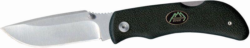 Outdoor Edge Grip-Lite Folding Knife 3.2 inch AUS-8 Blade, Black Kraton Handles